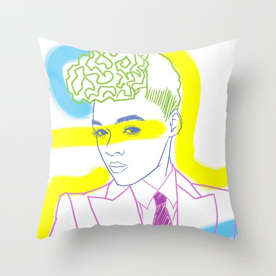 """""""The Electric Lady"""" by Tim Lukowiak Throw Pillow"""
