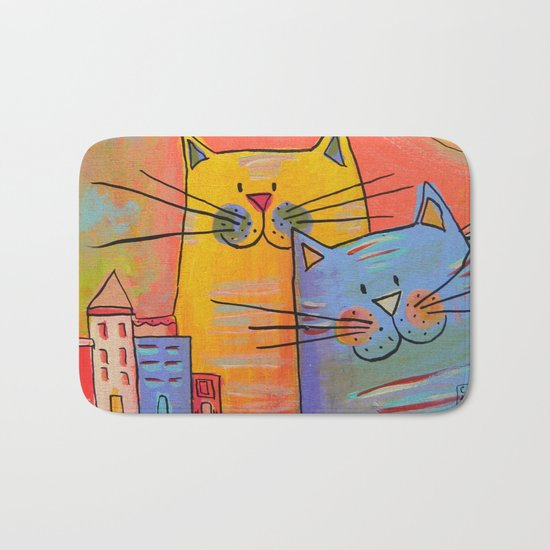 City cats Bath Mat