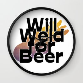 Will Weld for Beer Wall Clock