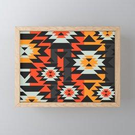 Aztec geometry Framed Mini Art Print