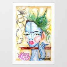 Krishna Art  Art Print
