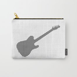 Black Dot Rock Guitar Silhouette Carry-All Pouch