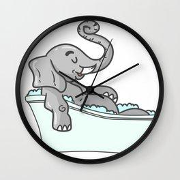 Bathtub elephant Wall Clock