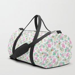 Tropical Bike Pattern Duffle Bag