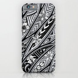 Vintage Hawaiian Tribal Floral Tattoo Tapa Print iPhone Case