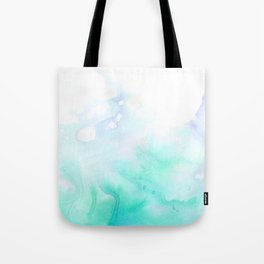 turquoise watrcolor Tote Bag