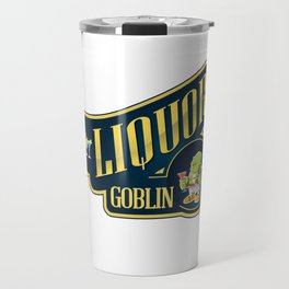 Liquor Goblin Fantasy Bartender Mixologist T-Shirt Travel Mug