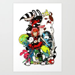 Colorfull Monsters Art Print