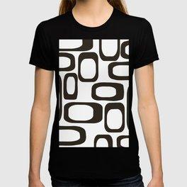 Mid Century Modern Shapes Black And White #society6 #buyart T-shirt