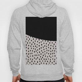 Modern geometrical black ivory paint  brushstrokes Hoody