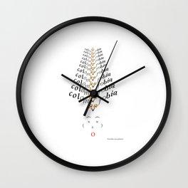 Colombofobia Wall Clock