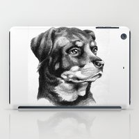 rottweiler iPad Cases featuring Rottweiler Devotion by Patricia Howitt