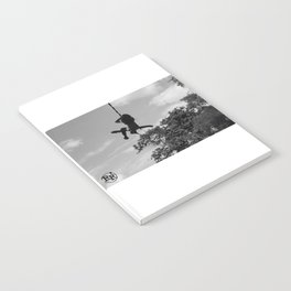Girl on Swing B&W Notebook