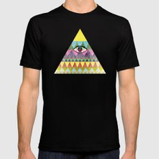 Pyramid in Space. X-LARGE Mens Fitted Tee Black