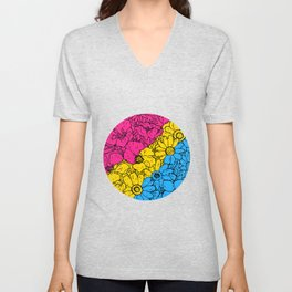 Pansexual Flowers Unisex V-Neck