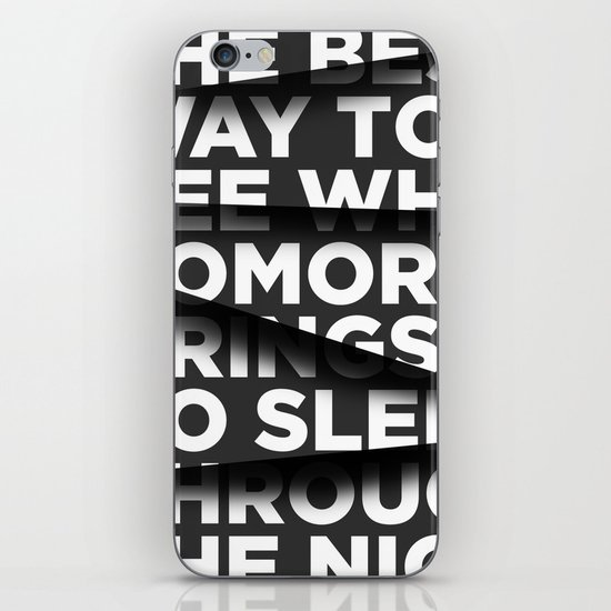 Sleep Through The Night iPhone & iPod Skin