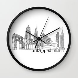 Untapped Cities Wall Clock