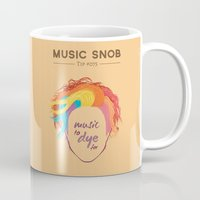 paramore Mugs featuring MORE Music to DYE for — Music Snob Tip #075.5 by Elizabeth Owens