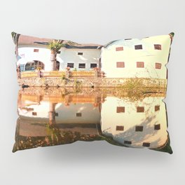 River reflections at the mill | waterscape photography Pillow Sham