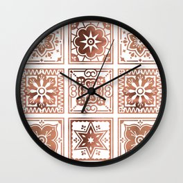 Talavera Mexican Tile – Rose Gold Palette Wall Clock