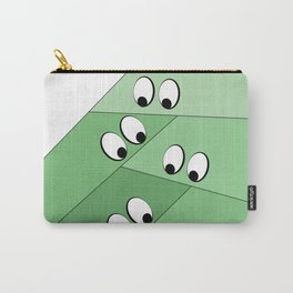 Green eating monsters design Carry-All Pouch
