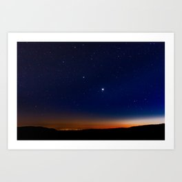 Stars over Yosemite National Park Art Print