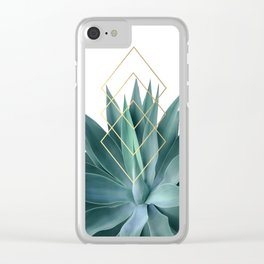 Agave geometrics Clear iPhone Case
