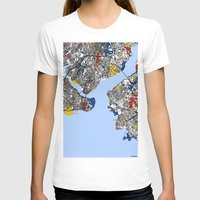 istanbul T-shirts featuring Istanbul by Mondrian Maps