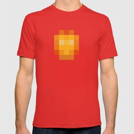 hero pixel red yellow T-shirt