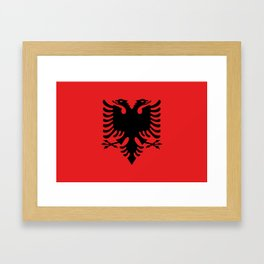 Albanian Flag - Hight Quality image Framed Art Print