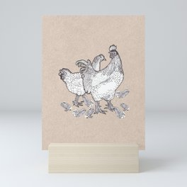 Scrambled croak Mini Art Print