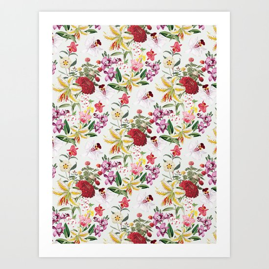 Botanical Garden VS021 Art Print