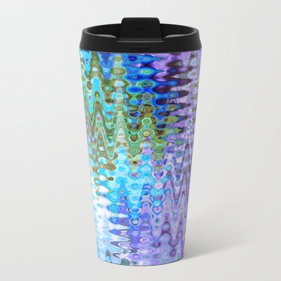 Charming Distractions, Abstract Art Waves Metal Travel Mug
