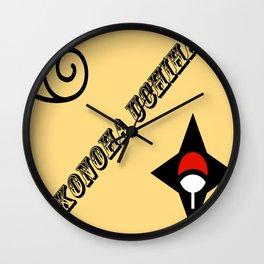 Konoha Uchiha Wall Clock