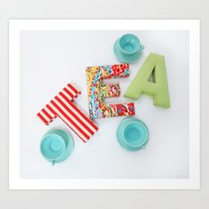 Tea for Three Art Print