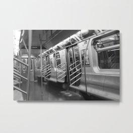 Underground subway of Newyork city | New York metro | Black and White urban photography | Travel art Metal Print