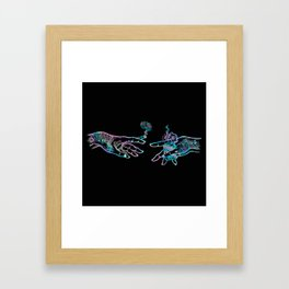 the Creation of Cannabis- holographic Framed Art Print