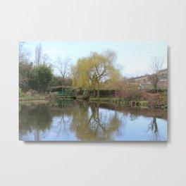 Monet Garden Metal Print