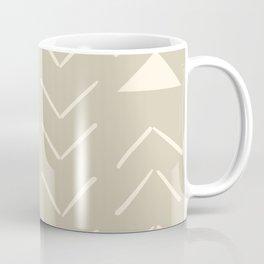 Mud Cloth Vector in Tan Coffee Mug