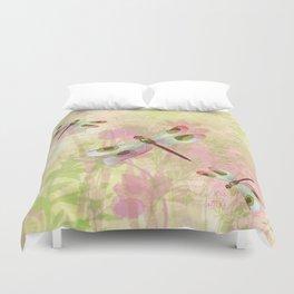 Pretty Dragonflies Duvet Cover