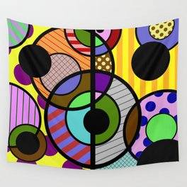 Patterned Retro - Geometric, Abstract Artwork Wall Tapestry