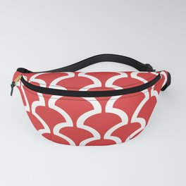 Classic Fan or Scallop Pattern 471 Red Fanny Pack