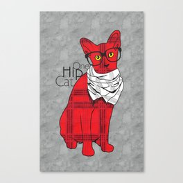 One Hip Cat Canvas Print