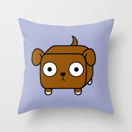 Pitbull Loaf - Red Brown Pit Bull with Floppy Ears Throw Pillow