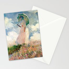 Claude Monet's Woman with a Parasol, Study Stationery Cards