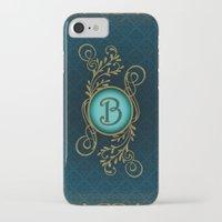 monogram iPhone & iPod Cases featuring Monogram B by Britta Glodde