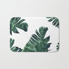 Banana Leaf Watercolor #society6 #buy #decor Bath Mat