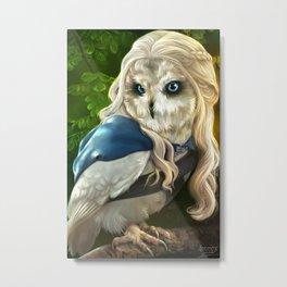 Mother of Owls Metal Print