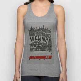 Vienna City Print Unisex Tank Top