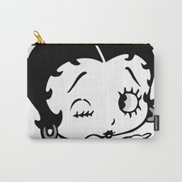 Betty Boop Tease Kiss (Black & White) Carry-All Pouch